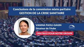 Vanina PAOLI-GAGIN : Conclusions CMP - Projet de loi relatif à la gestion de la crise sanitaire