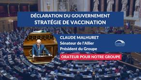 Claude MALHURET : Débat - Stratégie vaccinale du Gouvernement dans la lutte contre la Covid-19