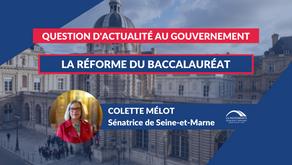 Colette MÉLOT : QAG - La réforme du baccalauréat