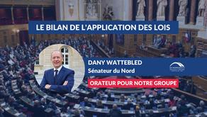 Dany WATTEBLED : Débat - Le bilan de l'application des lois