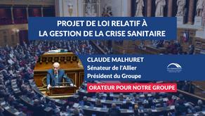 Claude MALHURET : Projet de loi relatif à la gestion de la crise sanitaire