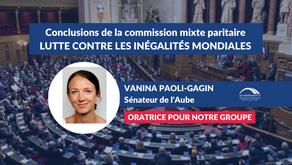 Vanina PAOLI-GAGIN : Conclusions CMP - PJL de programmation relatif au développement solidaire