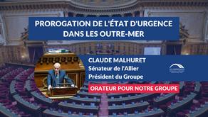 Claude MALHURET : Prorogation de l'état d'urgence sanitaire dans les outre-mer