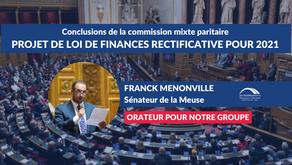 Franck MENONVILLE : Conclusions CMP - Projet de loi de finances rectificative pour 2021