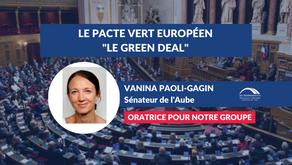 Vanina PAOLI-GAGIN : Débat - Le Pacte vert européen - Green Deal