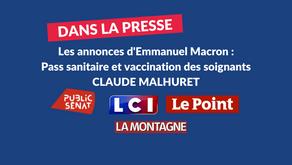 Claude Malhuret : Vaccination - Pass sanitaire - Les annonces du Président de la République