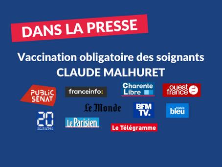Claude Malhuret sur la vaccination obligatoire des soignants : retombées dans les médias