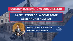 Jean-Louis LAGOURGUE : QAG - La situation de la compagnie aérienne Air Austral