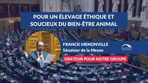 Franck MENONVILLE : Pour un élevage éthique, justice socialement et soucieux du bien-être animal