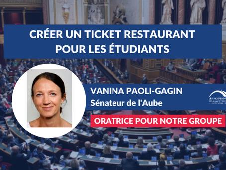 Vanina PAOLI-GAGIN : Créer un ticket restaurant étudiant