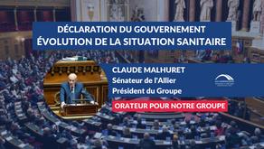 Claude MALHURET : Débat - Évolution de la crise sanitaire - Réponse du Gouvernement face au Covid-19