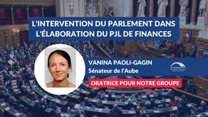 Vanina PAOLI-GAGIN : L'intervention du Parlement dans l'élaboration du projet de loi de finances
