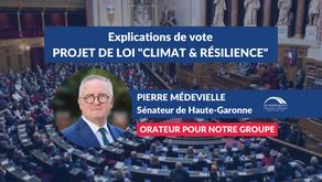 """Pierre MÉDEVIELLE : Explications de vote sur le projet de loi """"Climat & Résilience"""""""