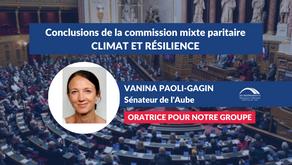 """Vanina PAOLI-GAGIN : Conclusions CMP - Projet de loi """"Climat & Résilience"""""""