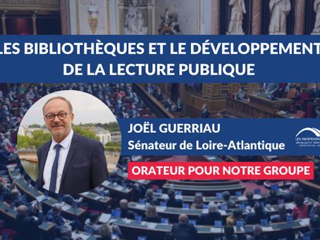 Joël GUERRIAU : Les bibliothèques des collectivités et le développement de la lecture publique