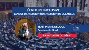 Jean-Pierre DECOOL : Écriture inclusive 1/2 - Introduction du débat