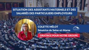 Colette MÉLOT : Protection sociale pour assistants maternels - salariés des particuliers employeurs