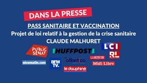 Claude Malhuret : Pass sanitaire - vaccination - projet de loi sur la gestion de la crise sanitaire