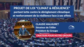 """Claude MALHURET : Projet de loi """"Climat & Résilience"""""""