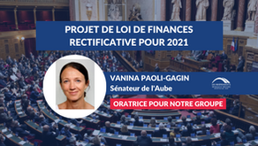 Vanina PAOLI-GAGIN : Projet de loi de finances rectificative pour 2021