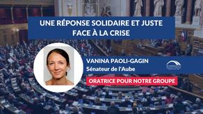 Vanina PAOLI-GAGIN : Apporter une réponse solidaire et juste face à la crise
