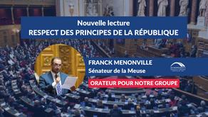 Franck MENONVILLE : Nouvelle lecture - Respect des principes de la République