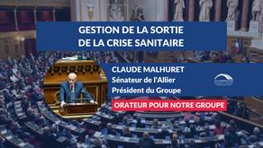 Claude MALHURET : Projet de loi relatif à la gestion de la sortie de la crise sanitaire