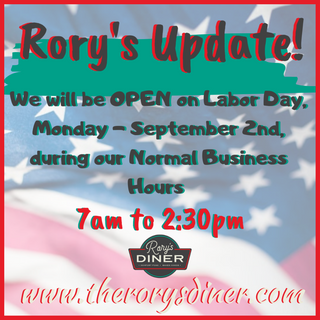 We're Open On Labor Day!