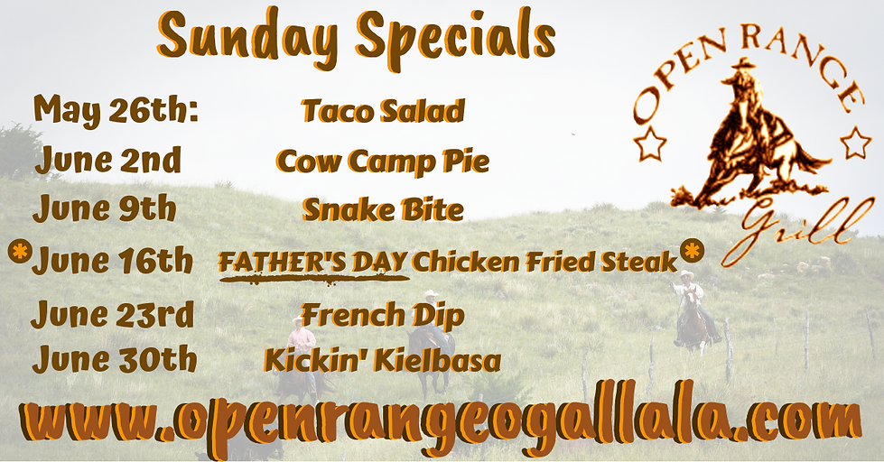 The Range 2 Facebook New Sunday Specials