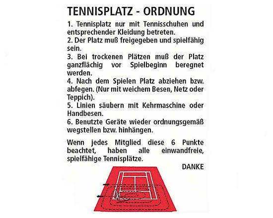 Tennisplatz Ordnung