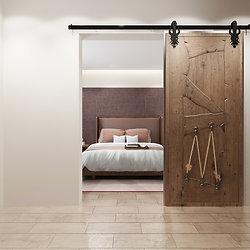 Imperial Design 5 16FT Barn Door Hardware Kit ...