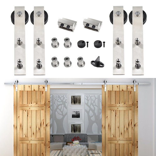 barn door hardware, bypass barn door hardware, double barn door hardware, barn door hardware kit, sliding barn door hardware