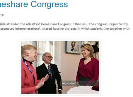 Queen Mathilde attended the 6th World Homeshare Congress in Brussels.