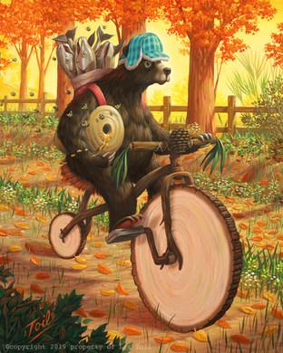 Canadian Bear on Bike