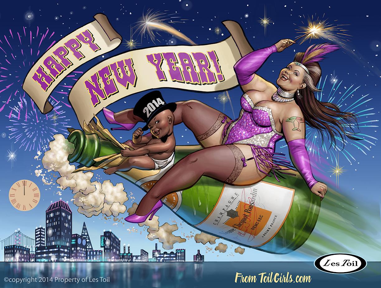 New Years Art