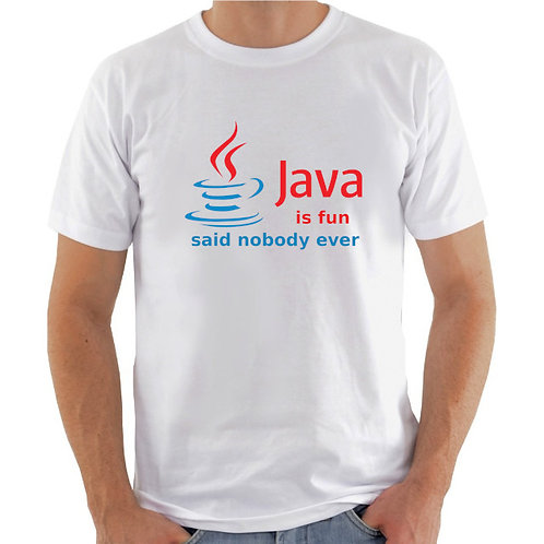 Camiseta Java is fun