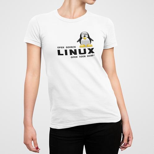 Camiseta Linux Open your mind - FEM