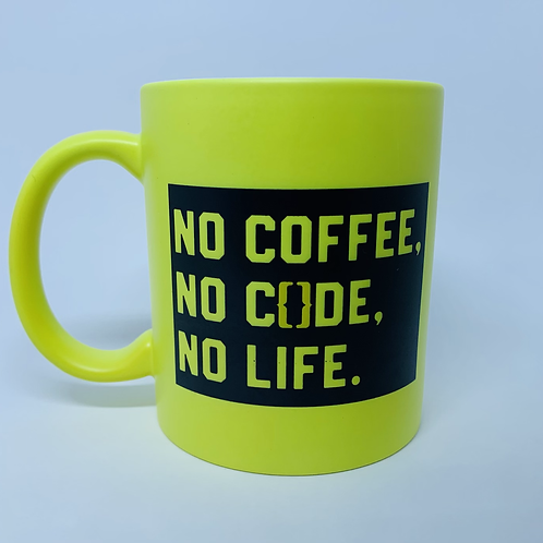 Caneca no coffee,no code, no life.