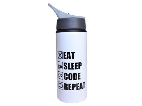 Squeeze alumínio Eat Sleep Code Repeat - 500ml