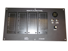 A remote alarm panel containing 32 alarm points is mounted in the pilothouse and gives the operator audio and visual indication of an alarm state.