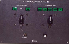 The Pilothouse Steering Control Panel is the main control center of the steering system.
