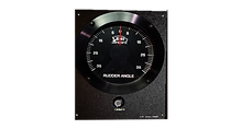 "Analog Rudder Angle Indicator Meters are available in 3"" and 5"" diameters sizes. Both sizes are 24 Volt backlight illuminated with IP66 rated front face. 5"" RAI meters come with a potentiometer interface PCB mounted to back of meter for direct parallel con"