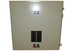 The function of the Propulsion Control Panel is to relay control commands from the station in the  pilothouse to the clutch solenoids on the engines.  In addition, the panel also serves as the monitoring point for system alarms.