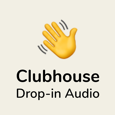 Join us on Clubhouse (iphone and invite only at the moment)