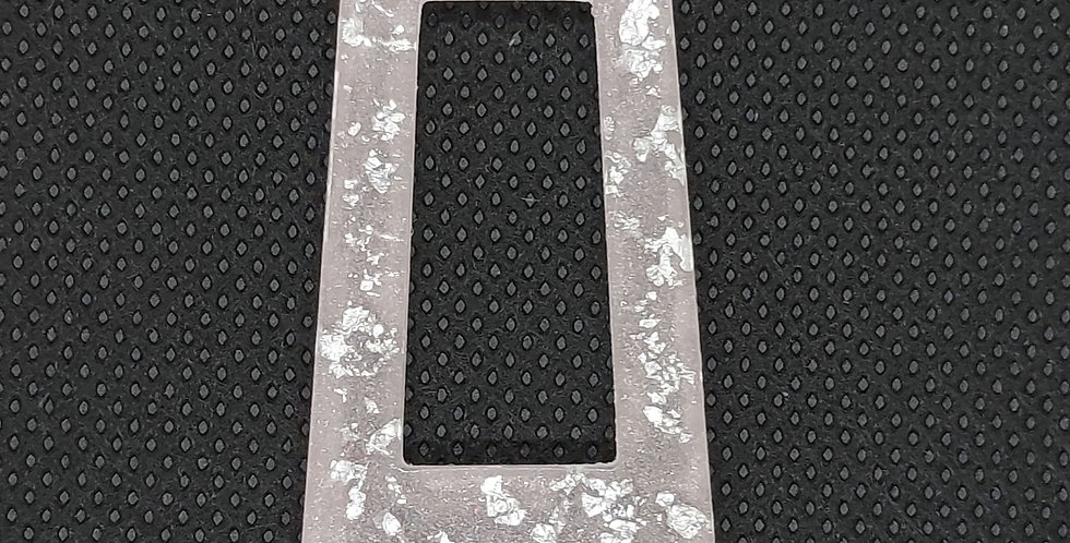 Resin Hangers kleur: Lichtroze/Zilver - 2 Stuks