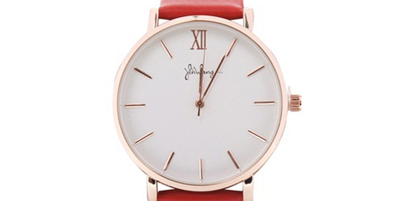 Trendy stainless steel horloge