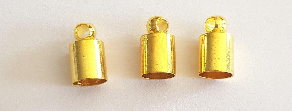 Eindcaps 4mm Goud - 6 Stuks