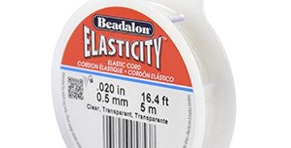 Rijgdraad elastiek Beadalon 0.5mm 5 meter Clear