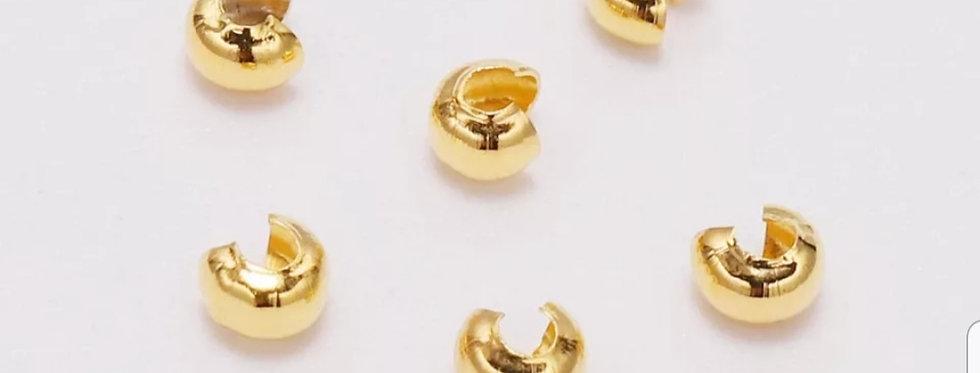 Knijpkraal verbergers 5mm Goud 20stuks