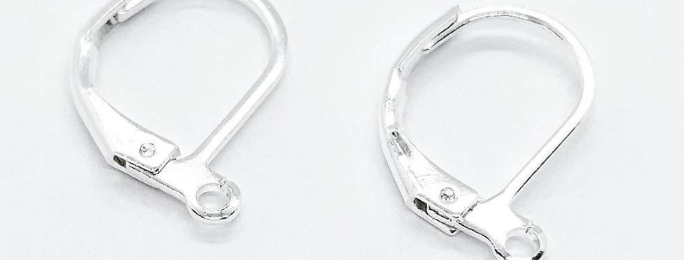 Oorhangers Lood-&Nikkelvrij kleur: Zilver - 4 Stuks